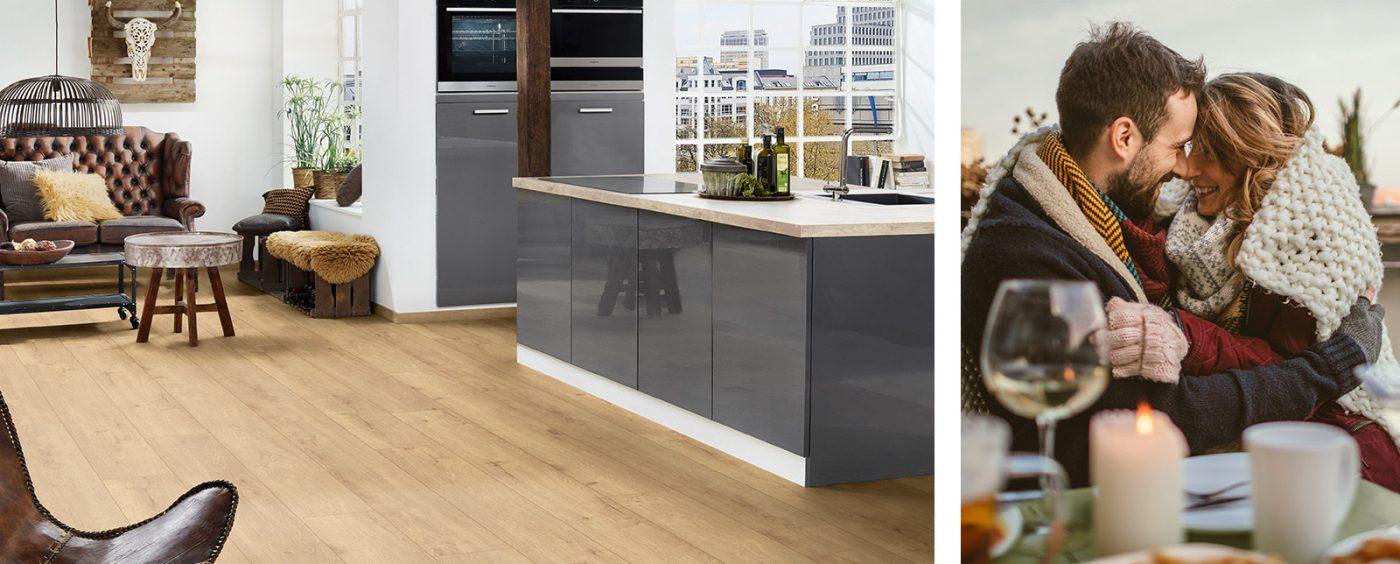 Sàn gỗ Binyl cho nhà bếp